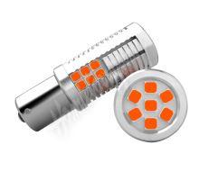 951204ora LED BAU15s oranžová, 12-24V, 30LED/3030SMD