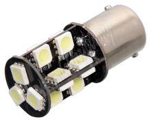 Žárovka 19 SMD LED 12V Ba15S s rezistorem CAN-BUS ready bílá
