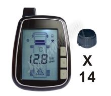 tpms614 TPMS kontrola tlaku v pneumatice 14 externích čidel