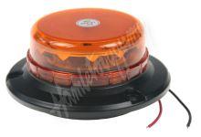 wl140 LED maják, 12-24V, 12x3W oranžový, magnet, ECE R65