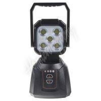 wl-li17dual AKU LED světlo s magnetem, bílá/oranžová, 5x3W, 205x110mm
