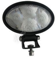 wa-010b PROFI LED výstražné bodové světlo 10-48V 4x3W modrý 143x122mm, ECE R10