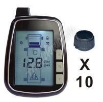 tpms610 TPMS kontrola tlaku v pneumatice 10 externích čidel