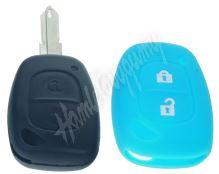 481RN103blu Silikonový obal pro klíč Renault, 2-tlačítkový, modrý