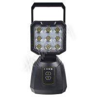 wl-li27PB AKU LED světlo s magnetem, powerbanka, 9x3W, 213x105mm