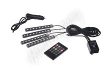 95RGB-SET02 LED podsvětlení vnitřní/vnější RGB 12V, IR, 4 pásky